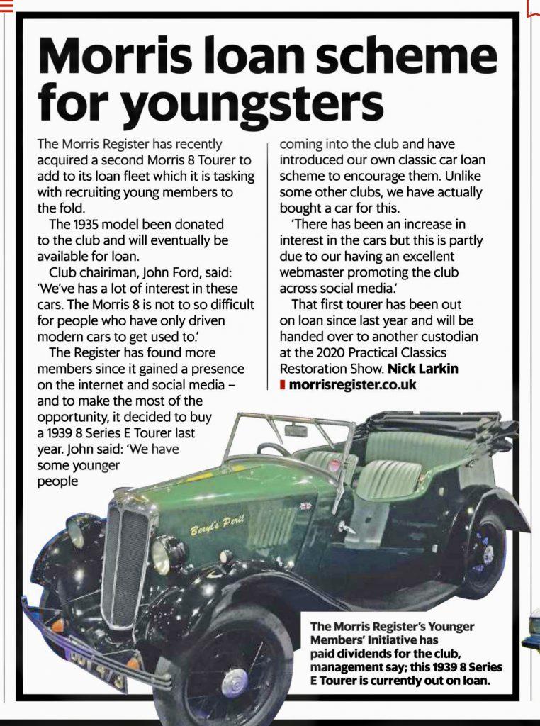 Classic Car Weekly Article 27 November 2019