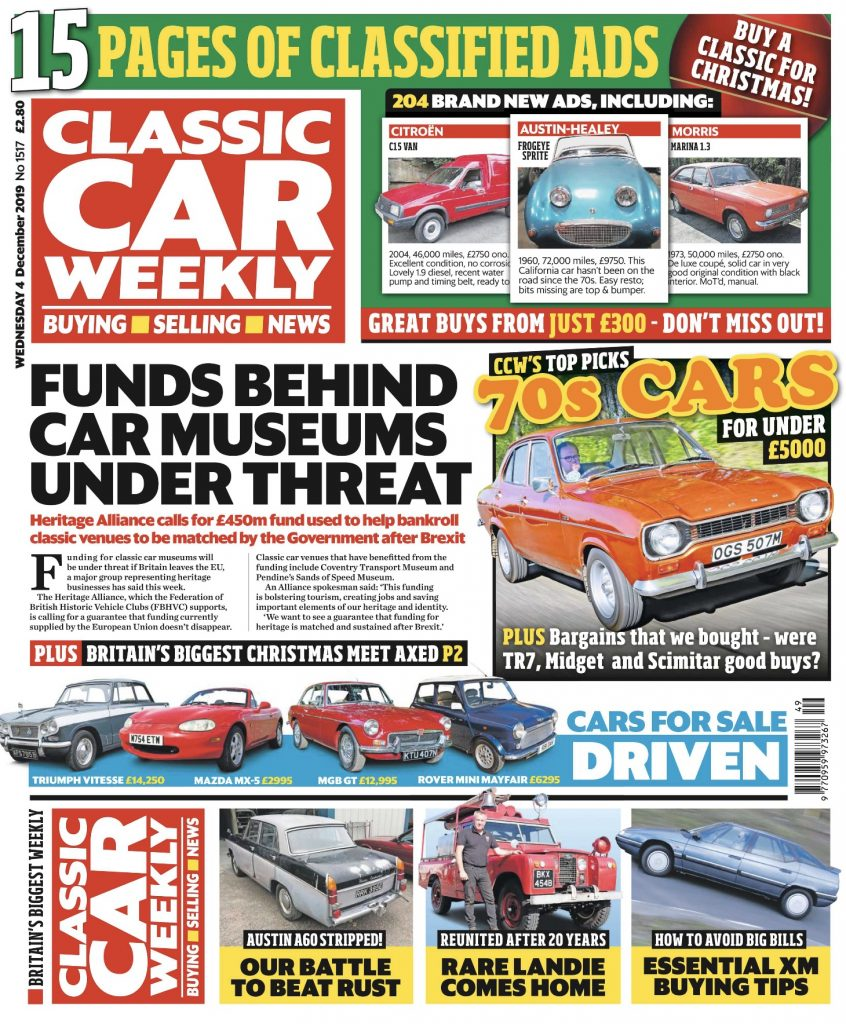 Classic Car Weekly 4 December 2019